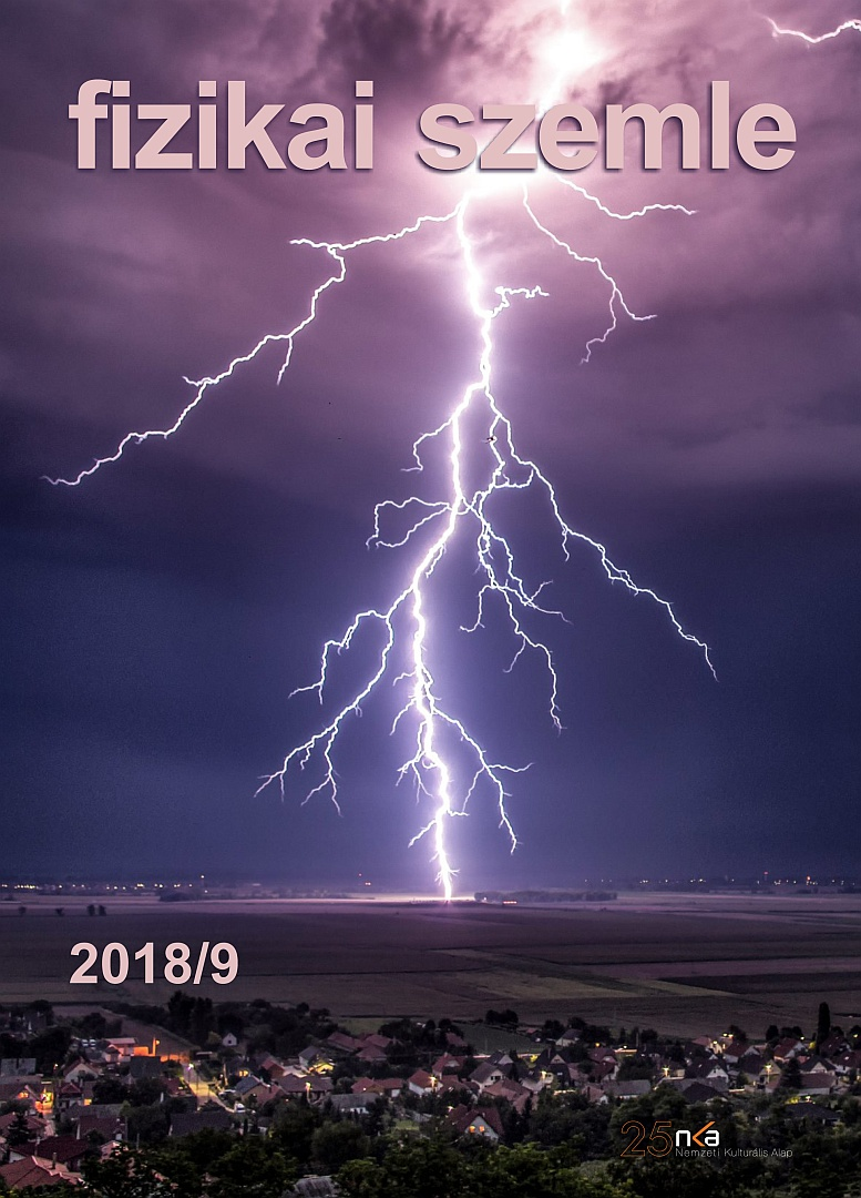 Fizikai szemle 2018 09 borítókép